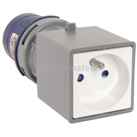 Famatel 139101 Adaptér 13910-F IP40/230V/16A - vidlice CEE / zásuvka s kolíkem