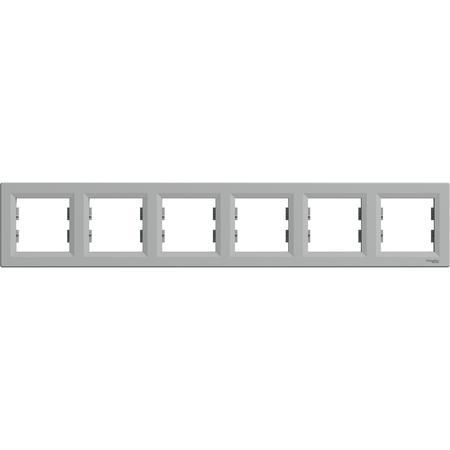 Schneider Electric EPH5800661 Rámeček šestinásobný, alu