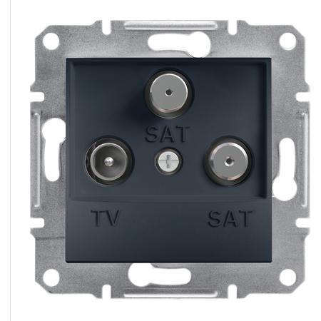 Schneider Electric EPH3600171 Zásuvka TV-SAT-SAT, koncová, antracit
