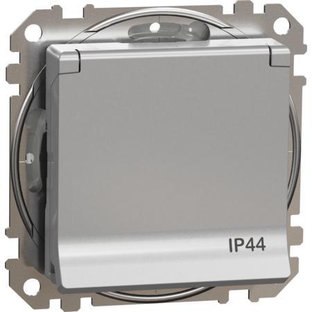 Schneider Electric SDD213014 Zásuvka 230V 16A IP44 bezšroubová alu