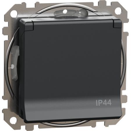 Schneider Electric SDD214013 Zásuvka 230V 16A IP44 šroubová antracit