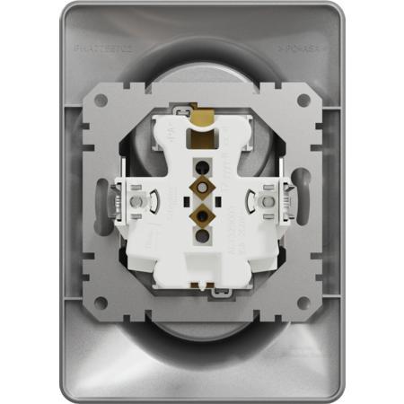Schneider Electric SDD313211C Zásuvka dvojnásobná 230V 16A alu