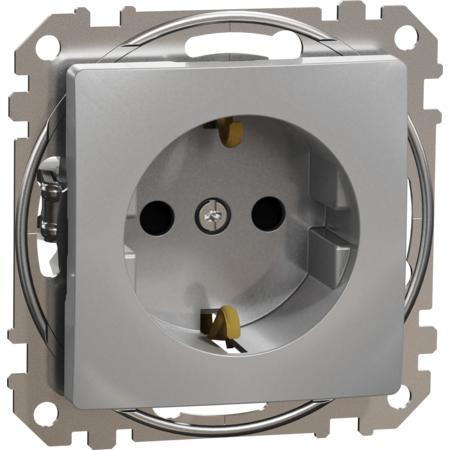 Schneider Electric SDD113021 Zásuvka 230V 16A SCHUKO alu