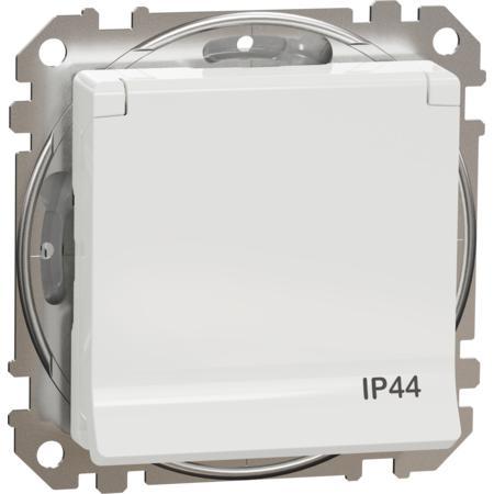 Schneider Electric SDD211024 Zásuvka 230V 16A SCHUKO IP44 bílá