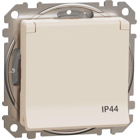 Schneider Electric SDD212024 Zásuvka 230V 16A SCHUKO IP44 béžová