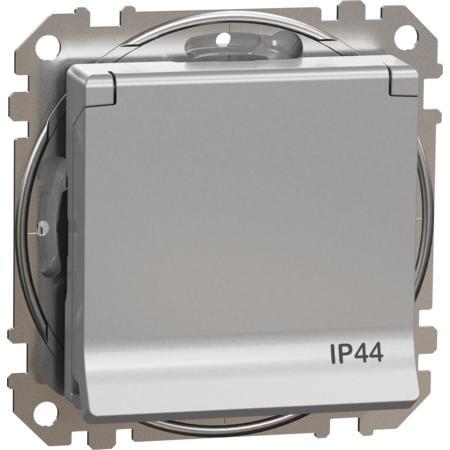 Schneider Electric SDD213024 Zásuvka 230V 16A SCHUKO IP44 alu