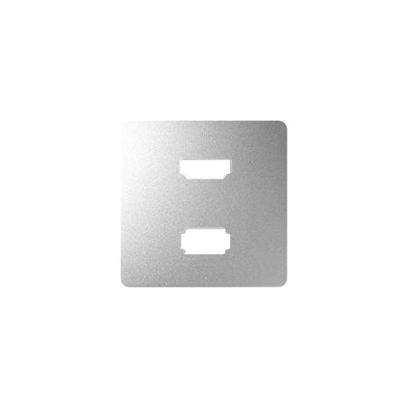 Simon 8201095-093 Kryt pro zásuvka USB + HDMI (V1.4) hliník